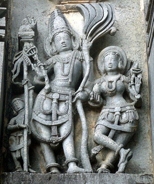 ಬೇಲೂರು ಚೆನ್ನಕೇಶವ ದೇಗುಲದ ಭಿತ್ತಿಯಲ್ಲಿ ರತಿ - ಮನ್ಮಥರು